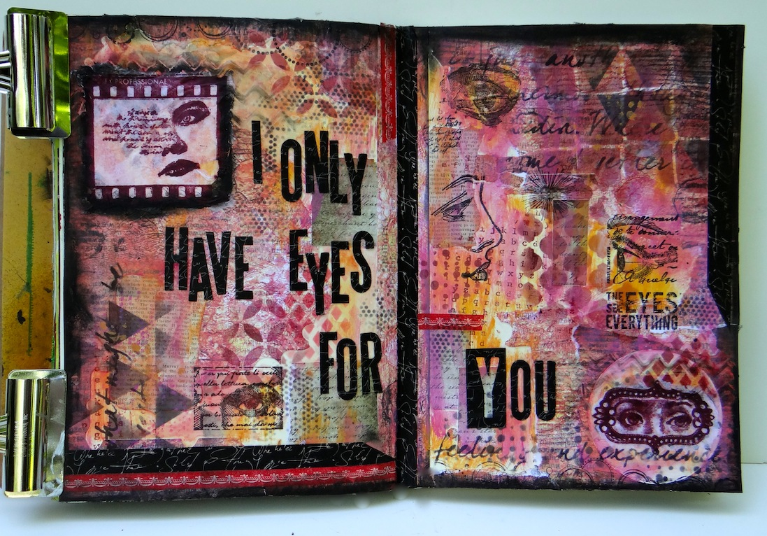 Art Journaling with Sizzix, Tim Holtz, Xyron, and Darkroom Door