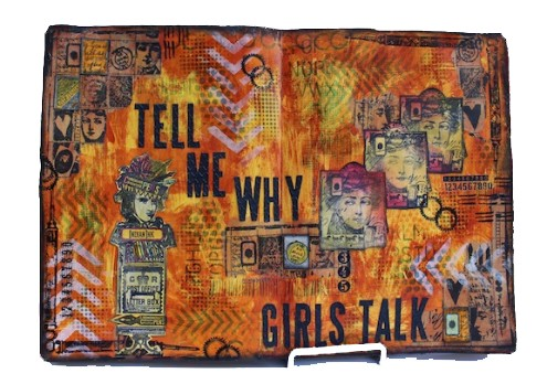 Art Journal - Tell Me Why Girls Talk - Marjie Kemper guest at Paper Artsy