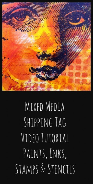 mixed media tag - video tutorial - Marjie Kemper