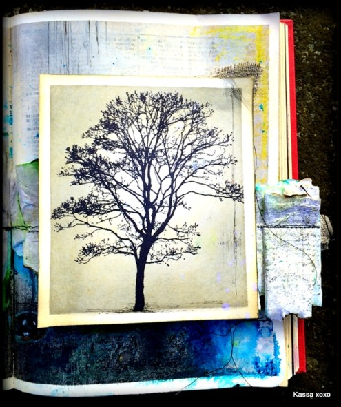 Mixed media art journal (2) by Karen Hayselden via Marjie Kemper's Tuesday's Tutorials Blog Series, Week 10