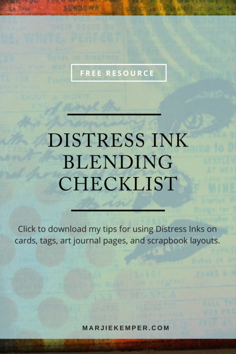 Click here to download my Distress Ink Blending Checklist