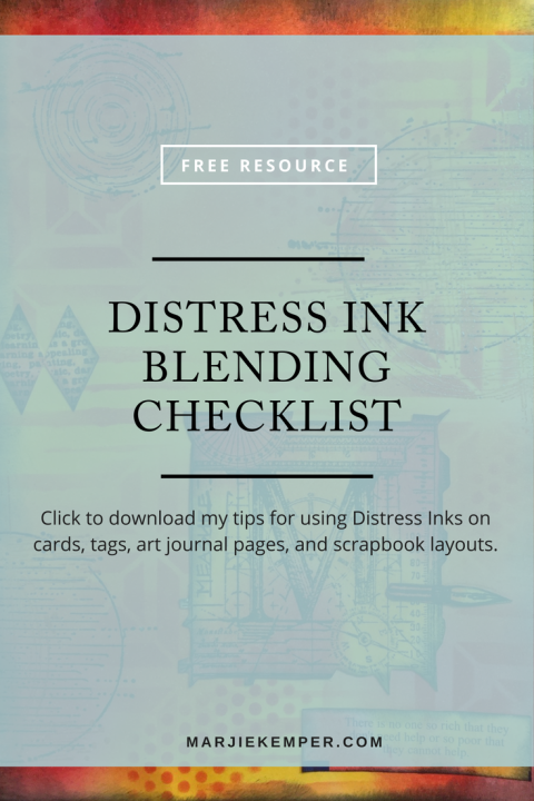 Download my free Distress Ink Blending Checklist