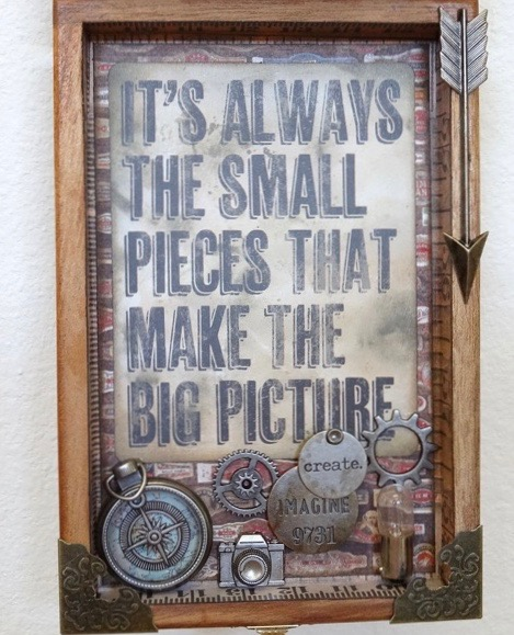 Altered cigar box by Annette Green via Marjie Kemper's Tuesday's Tutorials Blog Series, Week 47