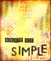 Art Journal ~ Keep it Simple