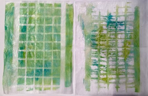 Monoprints with Stencils (Marjie Kemper)