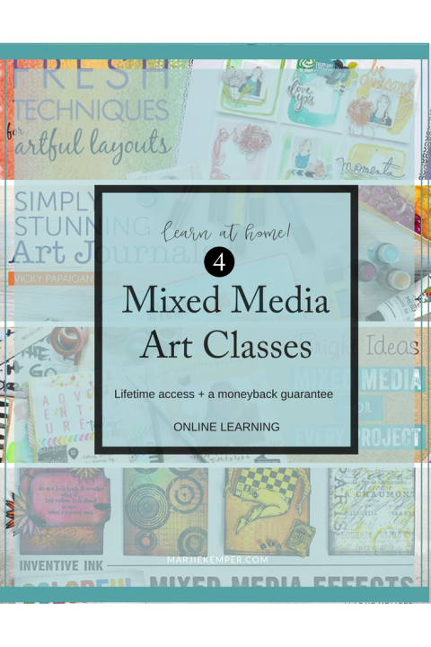 Craftsy Mixed Media Art Classes include art journaling, scrapbooking and more