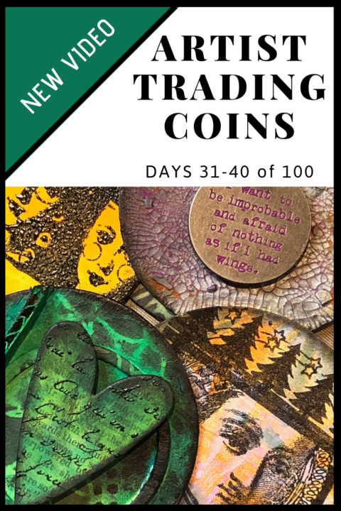 Video Flip Through of Artist Trading Coins (ATCs) Days 31-40 of 100 (Marjie Kemper)