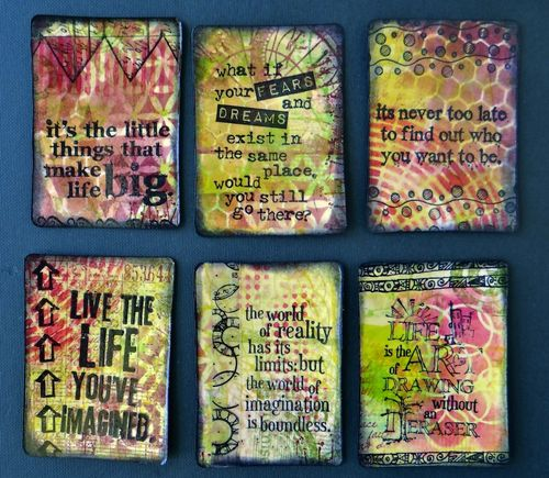 ATC Mini Album pages with Distress Stains - Marjie Kemper